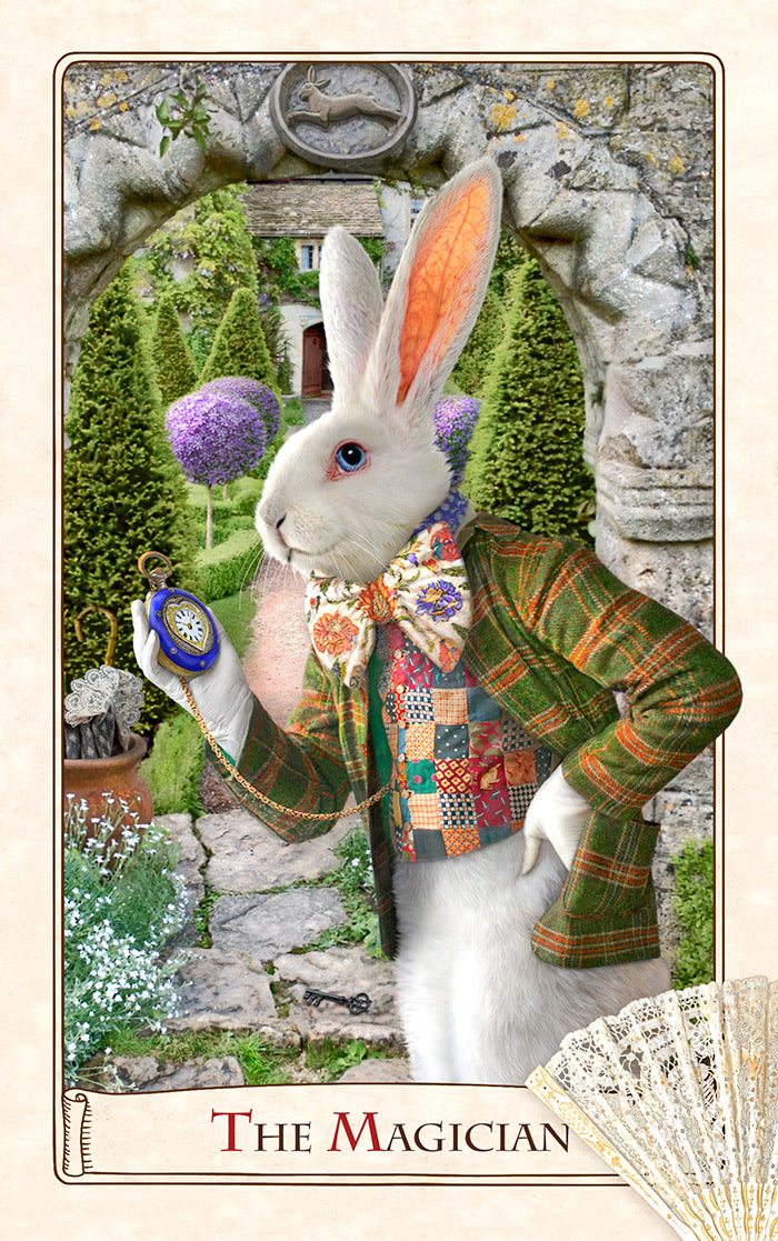 The Alice Tarot , Wonderland tarot cards, alice tarot deck, White Rabbit tarot cards, alice in wonderland