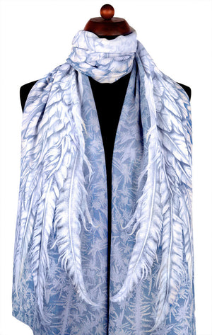 Wings of an Angel, pale version, soft viscose scarf/wrap. - Baba Store - 4