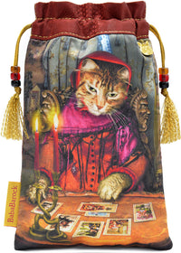 The Tarot Reader — limited edition tarot bag with vintage silk kimono - slight second
