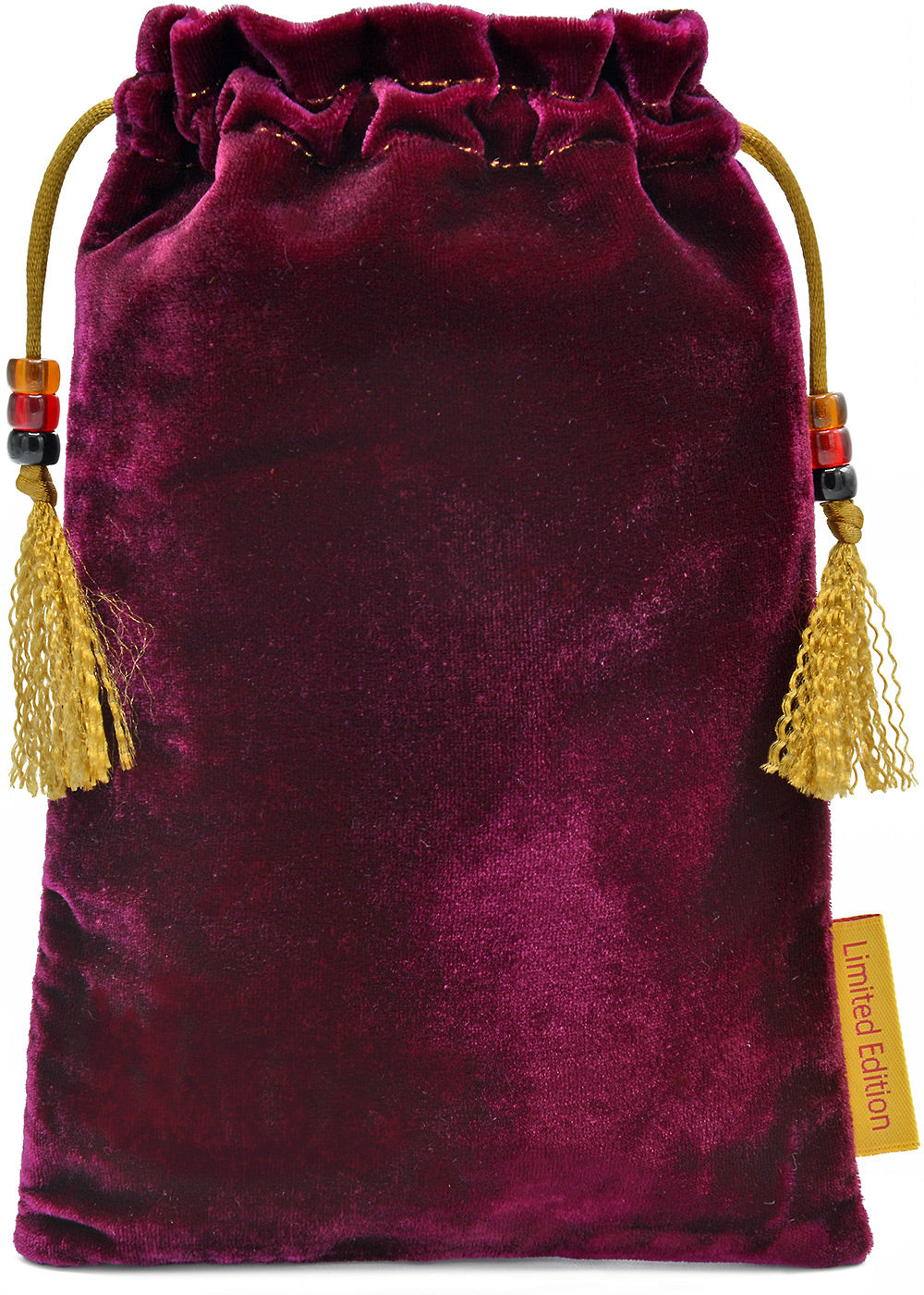 The Tarot Reader — limited edition tarot bag with burgundy silk velvet
