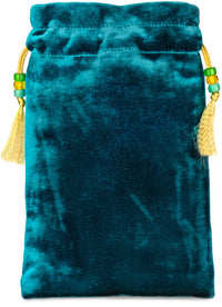 Alice and the Caterpillar — teal silk velvet - Baba Store - 2