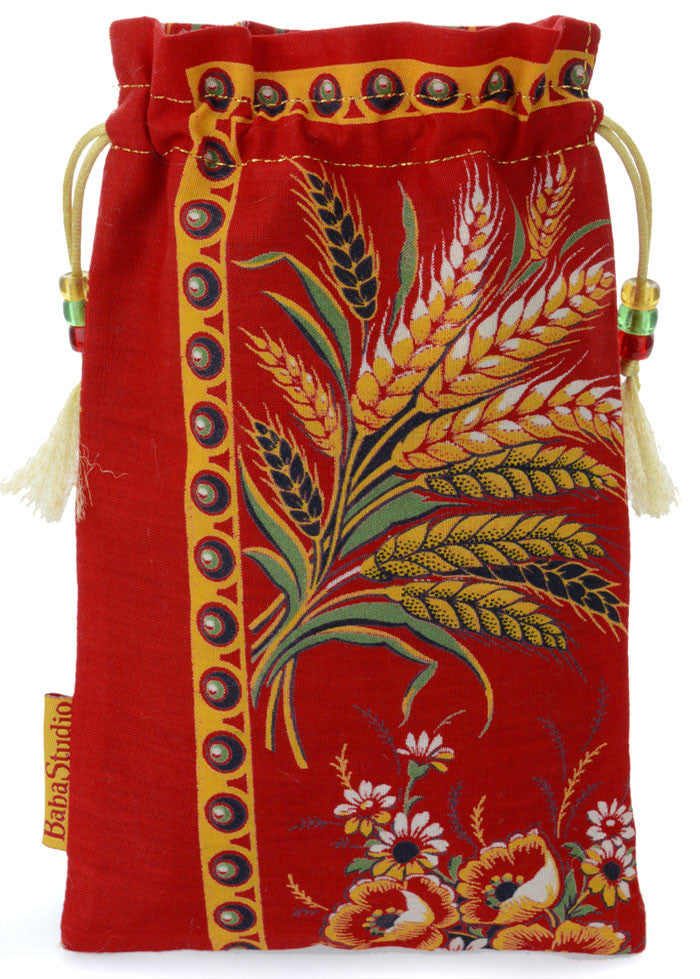 Bohemian Folk Wheat Sheaves — limited edition with antique cotton - Baba Store - 1