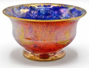 "Wedgwood, ""Fairyland"" Lustre footed bowl, by Daisy Makeig Jones. 1915-1929.  Butterflies."