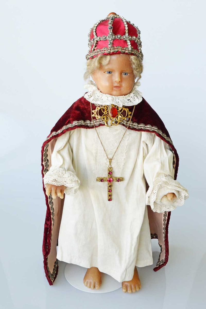 child of prague, infant of prague, wax statue, antique, wax figure