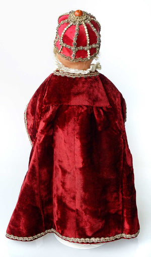 19th century Infant of Prague in wax - detailed costume
