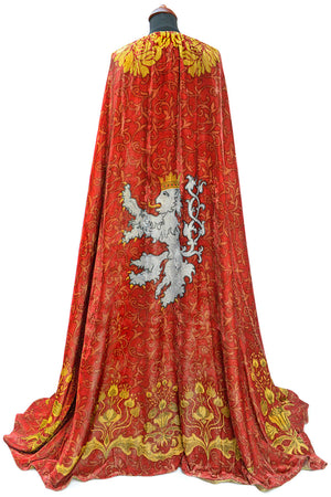 The Bohemian cloak. Art Nouveau patterns with optional Bohemian Lion on the back. Special order only. - Baba Store - 2