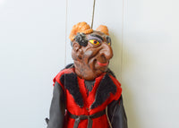 Vintage Czech devil puppet - nicely modelled