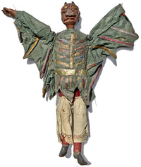 antique toy, wooden puppet, antique marionette, devil marionette, tiller clowes, english marionette, wooden, carved, marionette collection