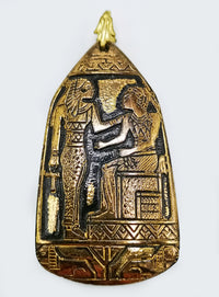 egyptian revival, max neiger, czech glass, pendant