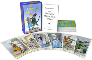 Fantastic menagerie, tarot, tarot cards, grandville, baba studio, the hermit card, the fantastic menagerie tarot, tarot cards, animals, victorian