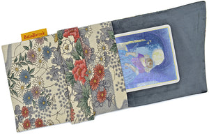 Baba Studio tarot pouch, foldover bag lined in silk, tarot pouches in vintage fabric