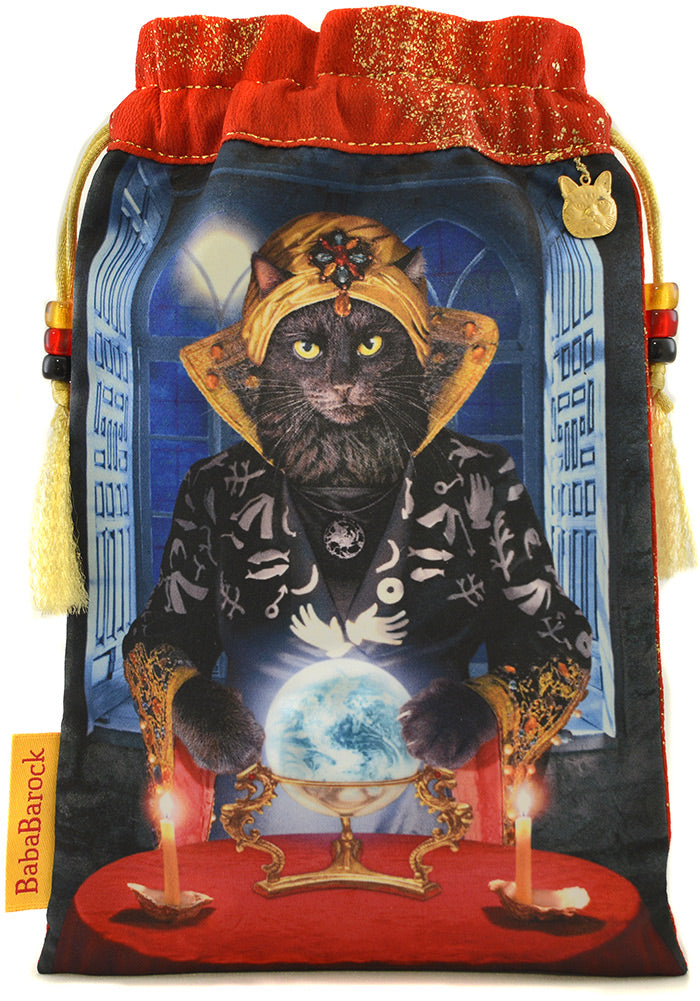 The Fortune Teller — limited edition tarot bag with vintage silk kimono