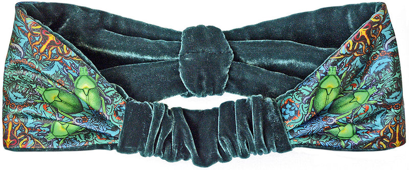Velvet headband, beetle print by Baba Studio