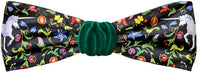 Unicorn headband - Mythical Beasts print by Baba Studio with green silk velvet