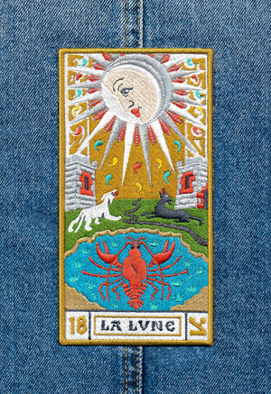La Lune embroidery patch - special, detailed piece