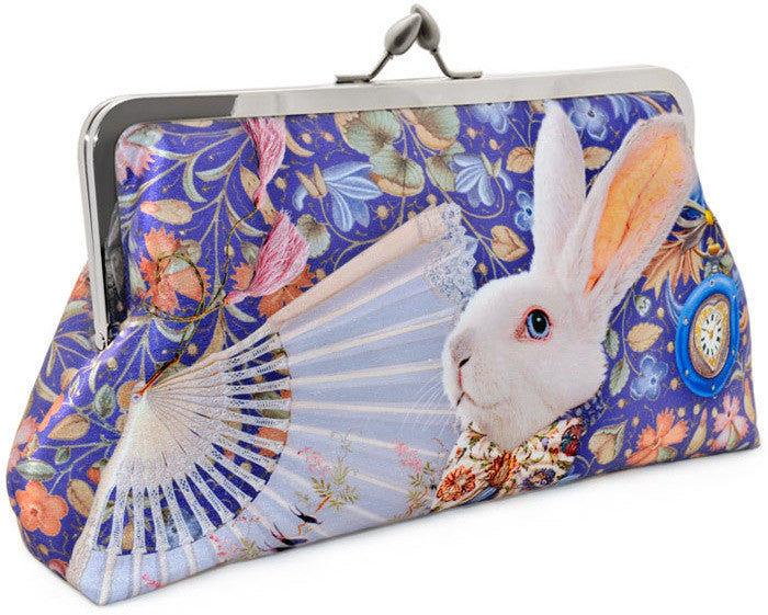 The White Rabbit, lavender, 8 inch size in satin