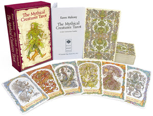 mythical creatures tarot, unicorn, dragon, mermaid, baba studio, bababarock, tarot cards, fantastic creatures tarot
