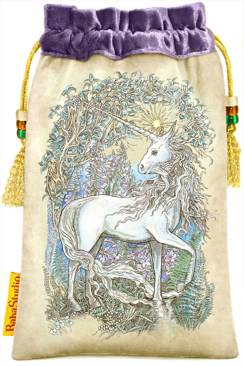 Unicorn tarot bag - Mythical Creatures Tarot by Baba Studio