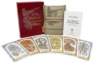 mythical creatures tarot, unicorn, dragon, baba studio, bababarock, tarot deck, fantastic creatures