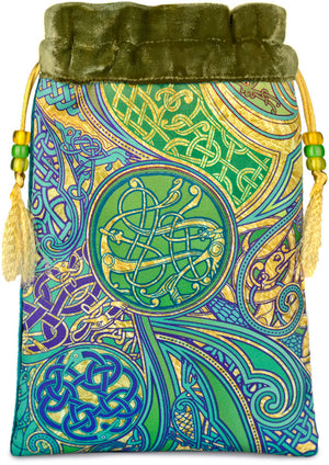 Jazzy Celtic Dawn — green silk velvet - Baba Store - 1