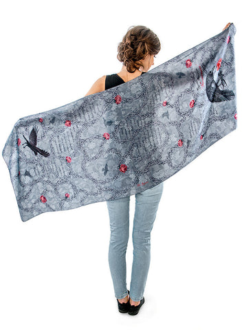 The Raven, soft viscose scarf/wrap.