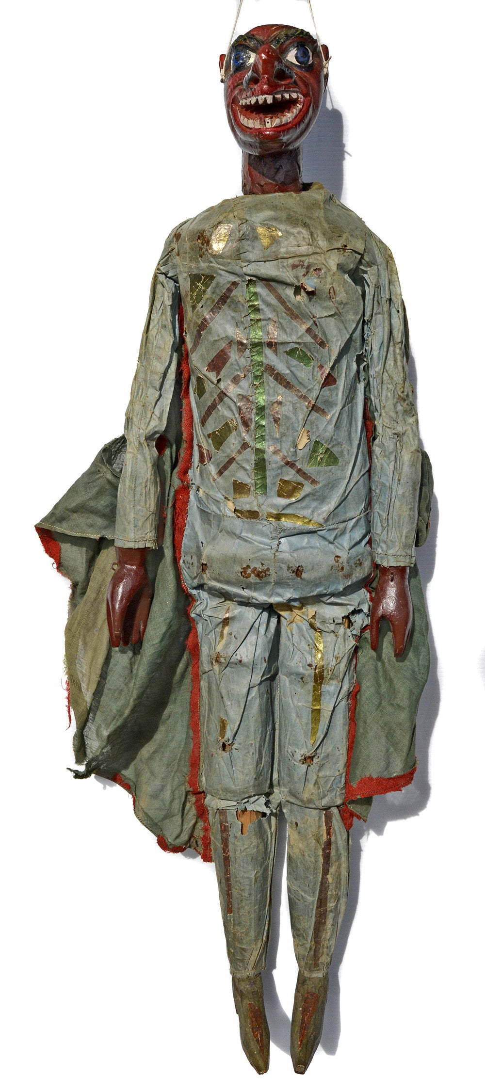 Devil Marionette 3  Large wooden carved 19th century English