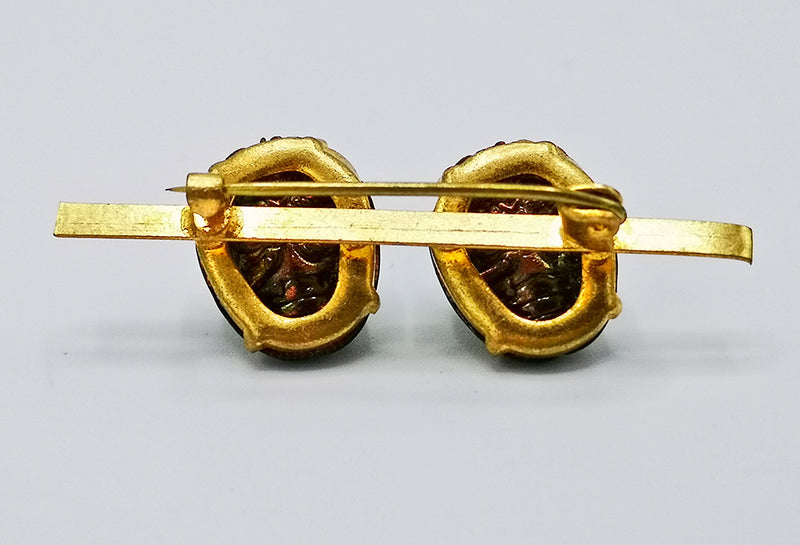back of scarab pin, brooch, real scarab, beetle, scarab beetle, victoriana, insect, jewellery, jewelry, egyptian revival