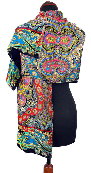 Paisley, boho style, arts and crafts, irish design, paisley print, silk velvet, paisley velvet, handmade in Ireland