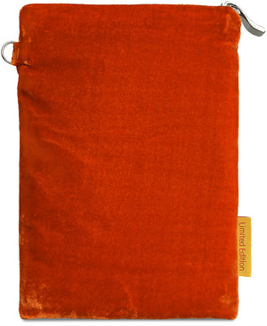 Le Soleil - silk velvet embroidered wristlet pouch