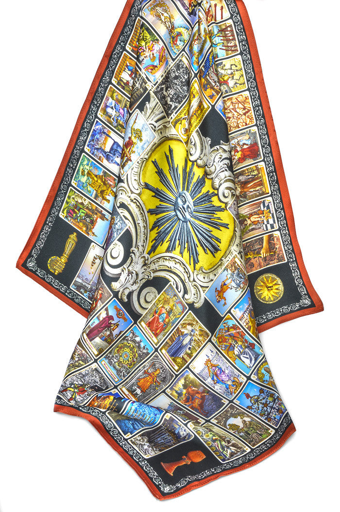 Tarot of Prague silk satin scarf - Baba Store - 2