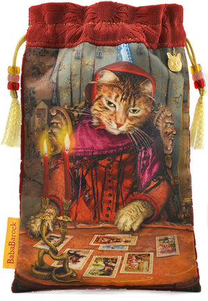 The Tarot Reader — limited edition tarot bag with silk brocade velvet