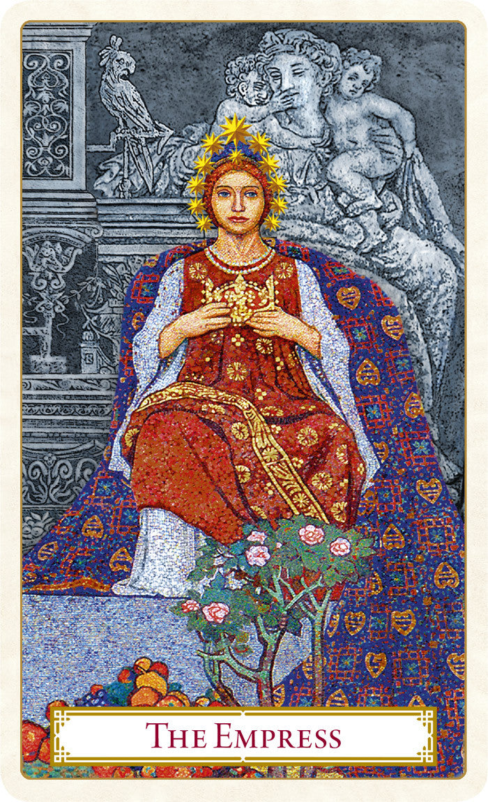 The Tarot of Prague limited edition tarot deck. The Empress card.