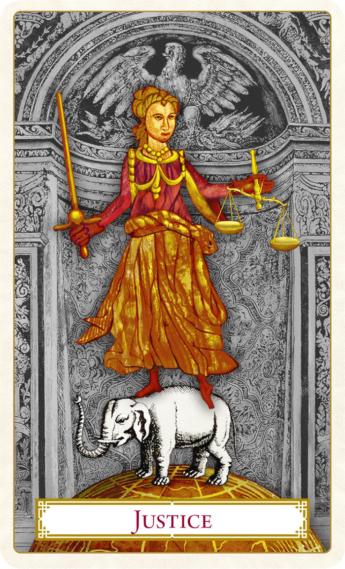 The Strength card from The Tarot of Prague Limited Edition tarot card deck