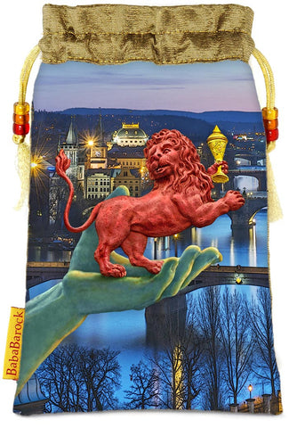 Tarot of Prague limited edition bag in Ace of Cups print.