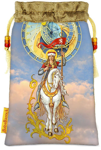 Tarot of Prague limited edition bag in Knight of Wands print. - Baba Store - 1