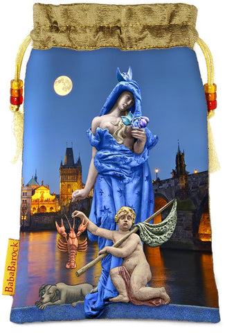 Tarot of Prague limited edition bag in The Moon print. - Baba Store - 1