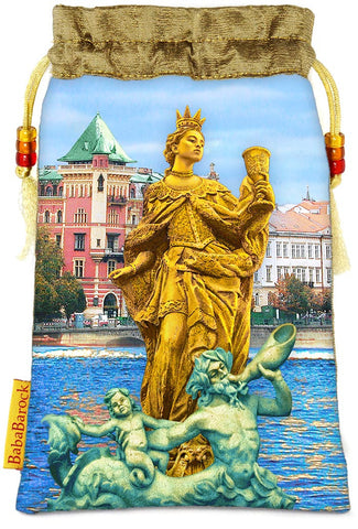 Tarot of Prague limited edition bag in Queen of Cups print.