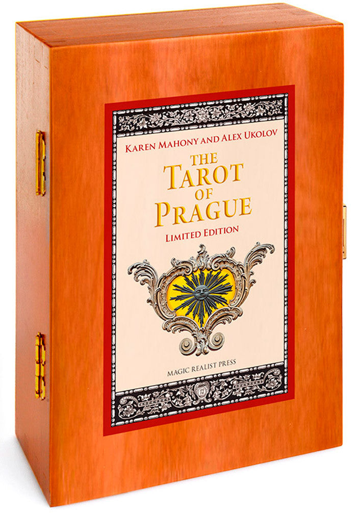 The Tarot of Prague limited edition deck. Tarot cards with wooden box.