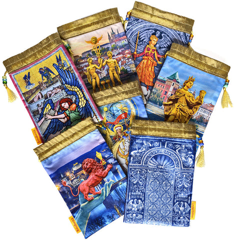 Tarot of Prague limited edition bag in Two of Cups print.