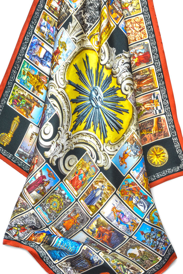 Tarot of Prague silk satin scarf - Baba Store - 1