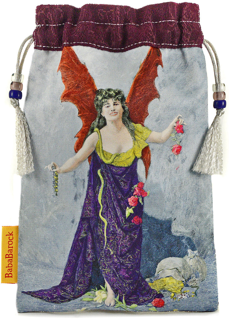 The Devil, limited edition drawstring from the Victorian Romantic Tarot