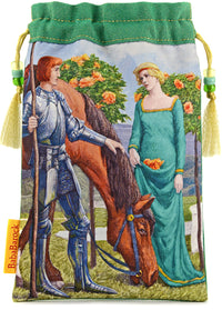 The Knight of Wands, limited edition drawstring from the Victorian Romantic Tarot