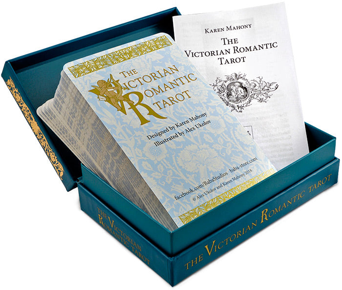 The Victorian Romantic Tarot cards by Baba Studio, RWS deck of tarot cards based on Victorian art and engravings