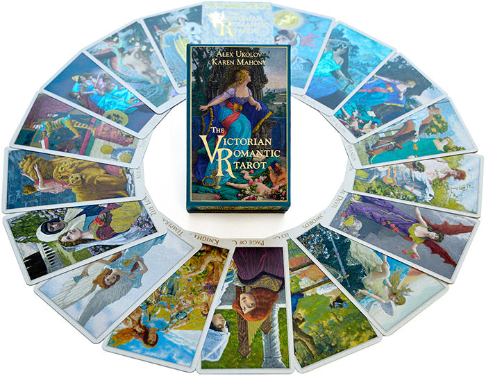 The Victorian Romantic Tarot by Baba Studio. Victorian illustrations on tarot card deck