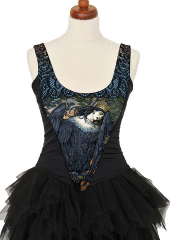 Bird of Sorrow, with black stretch silk