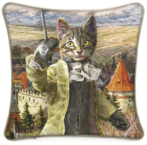The Brave Tabby cushion/pillow