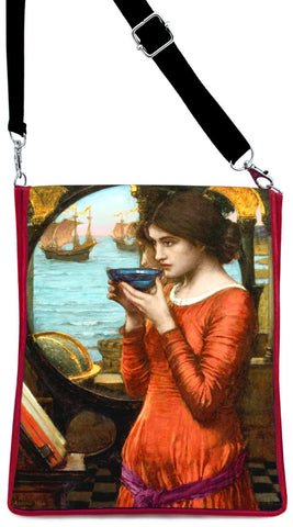 Destiny — Pre-Raphaelite William Waterhouse print, crimson red version