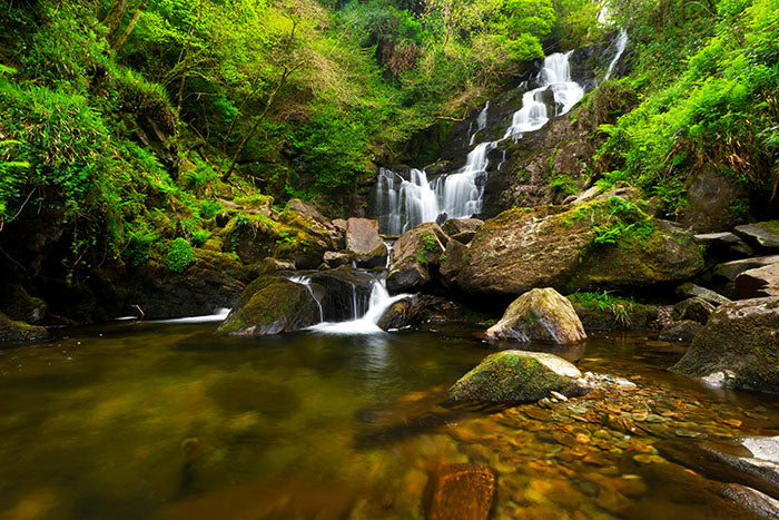 Irish waterfall, Magic Ireland tours - Baba Studio, guided tour of mythical Ireland, legends, fairytales