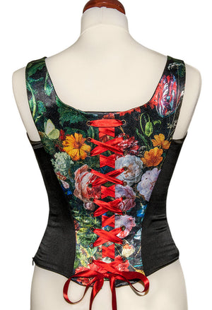 Antique Roses, with black stretch silk - Baba Store - 2