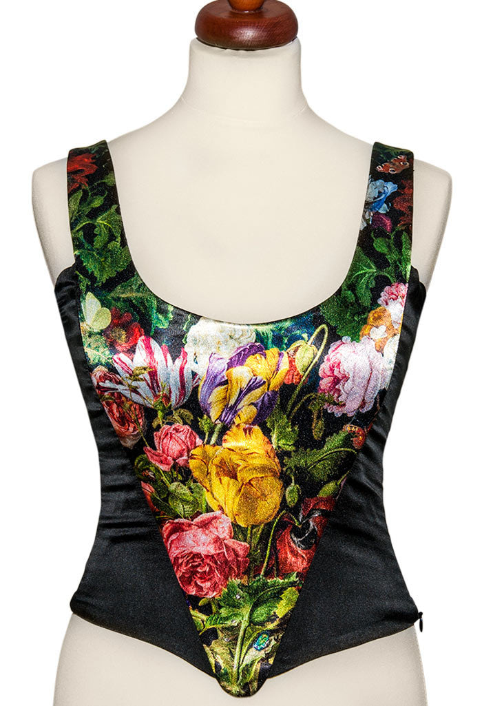 Antique Roses, with black stretch silk - Baba Store - 1